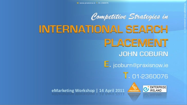 Competitive strategies in international search placement