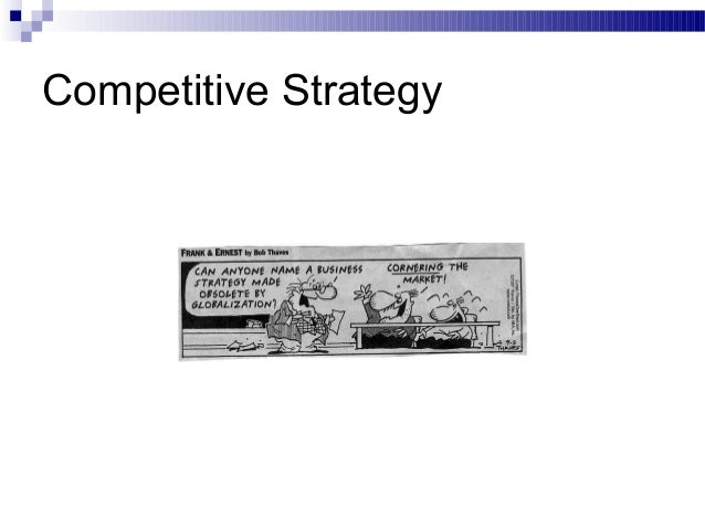 Competitive strategy2