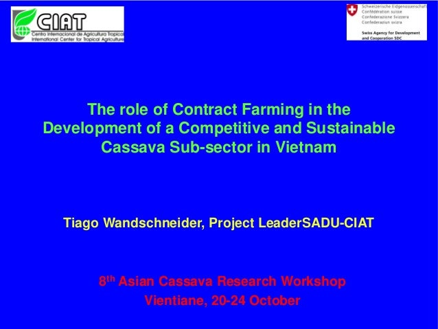 The role of Contract Farming in the Development of a Competitive and Sustainable Cassava Sub-sector in Vietnam