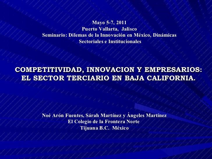 Competitividad, innovación y empresarios.