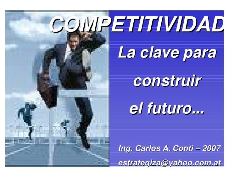 Competitividad   Octubre- 2009