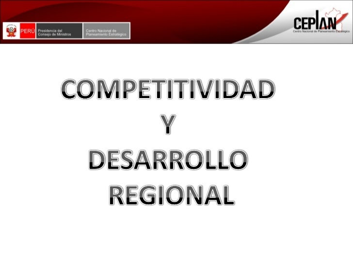 Competitividad Regional La Libertad