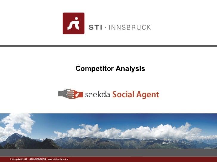 Competitor Analysis©www.sti-innsbruck.at INNSBRUCK www.sti-innsbruck.at Copyright 2012 STI