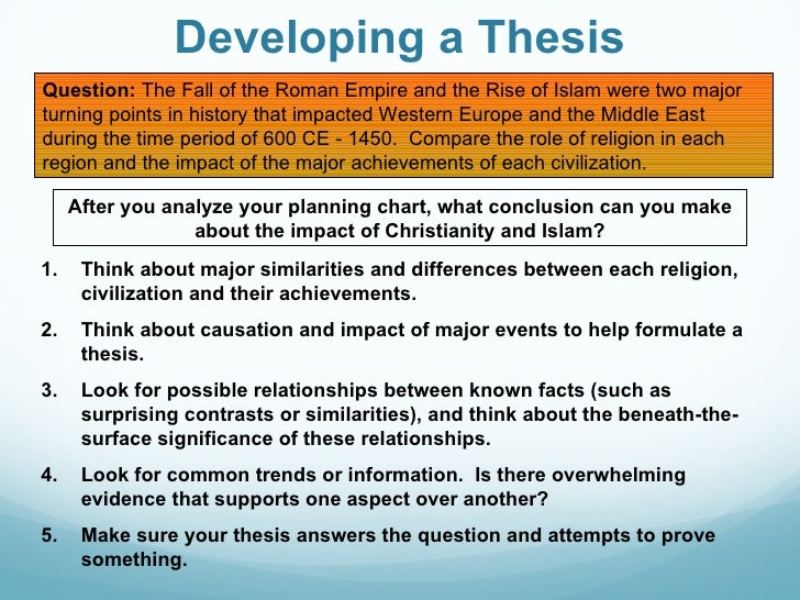 religious thesis questions