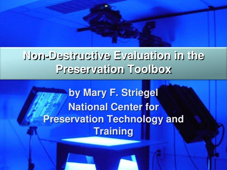 research paper on non destructive testing