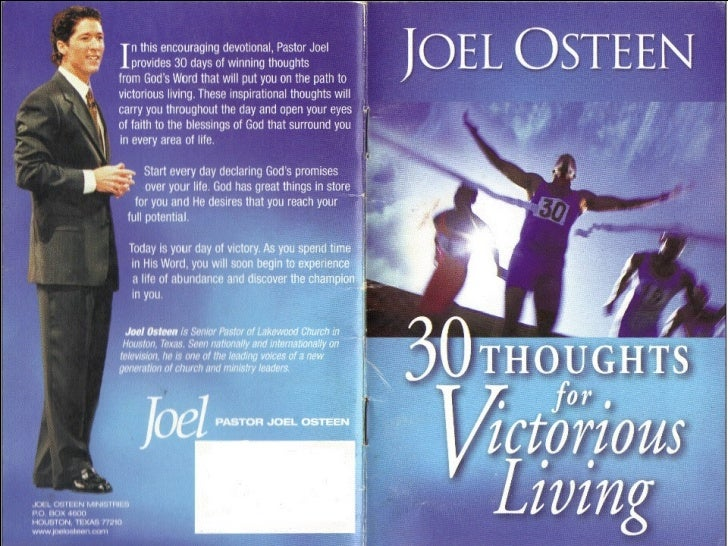 Compiled by Refaat bushra megalli   30 thoughts for victorius living by joel osteen