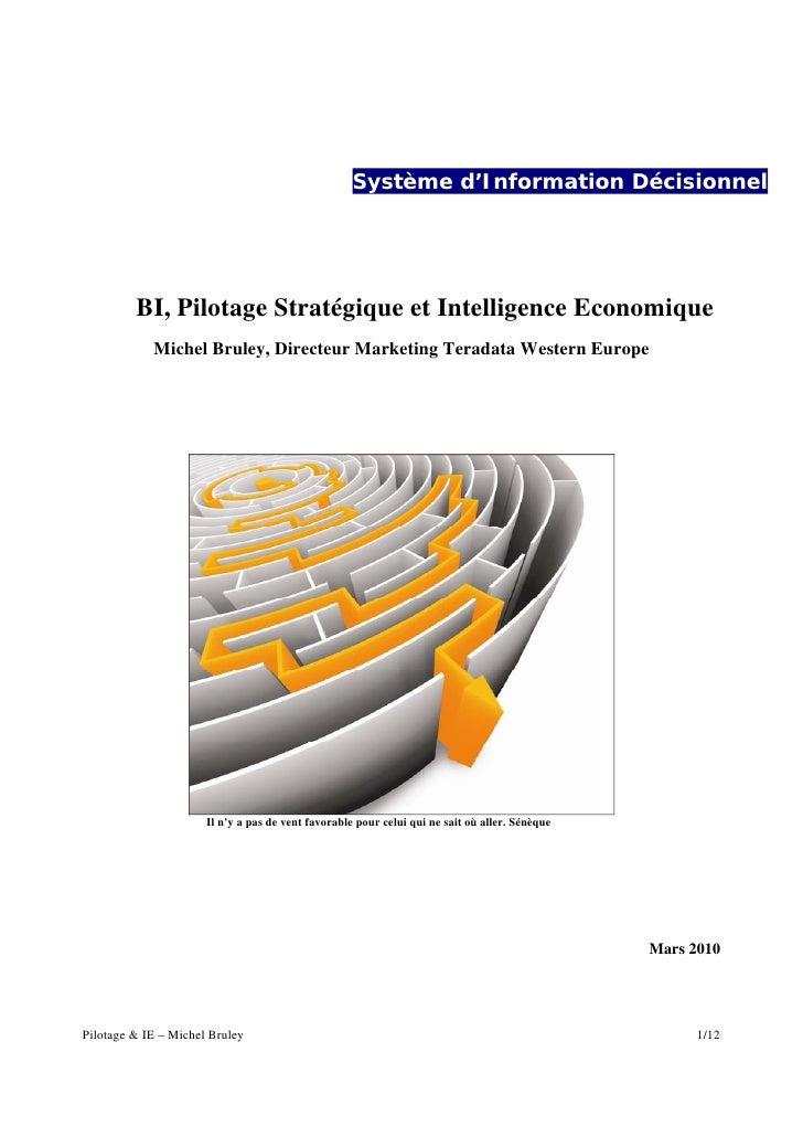 BI, Pilotage Stratégique et Intelligence Economique