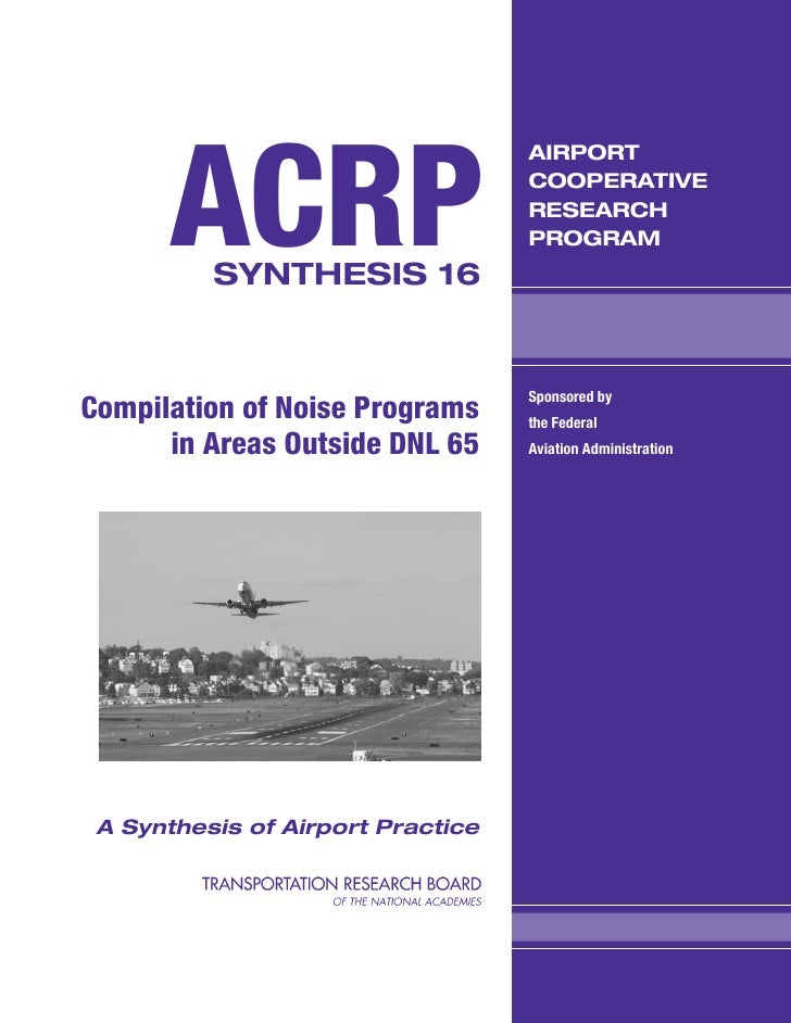 Compilation of noise programs in areas outside dnl 65