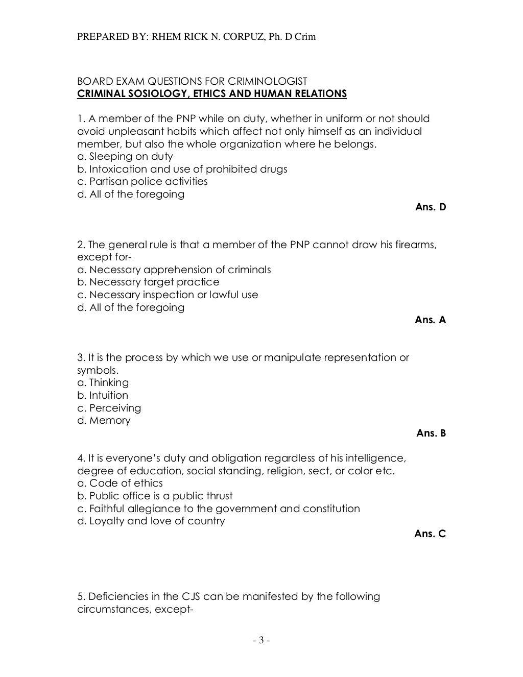 dissertation questions for criminology