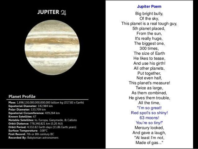 classroom solar system poem - photo #4