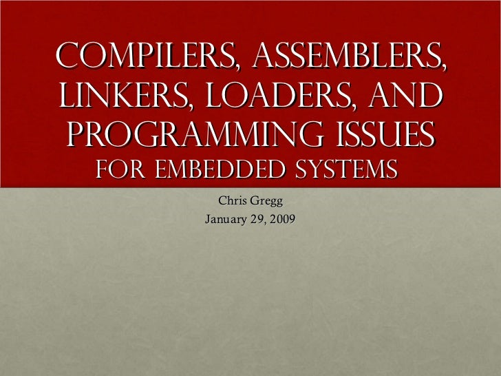 Compilers programmingembedded