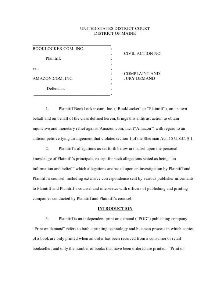 BookLocker Amazon Complaint