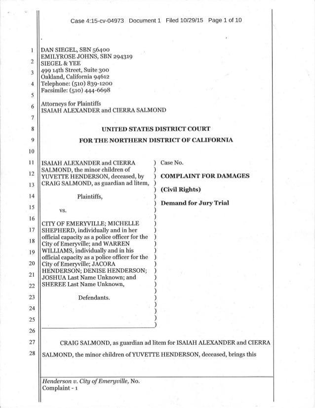 Complaint for-damages-us-district-court