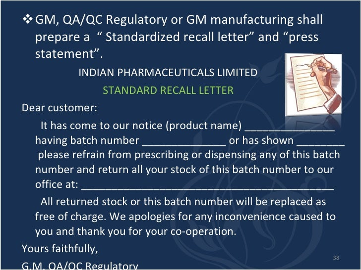"""Recall Letter to Employee Recall Letter"""" And """"press"""
