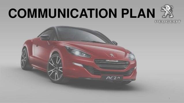 COMMUNICATION PLAN  1