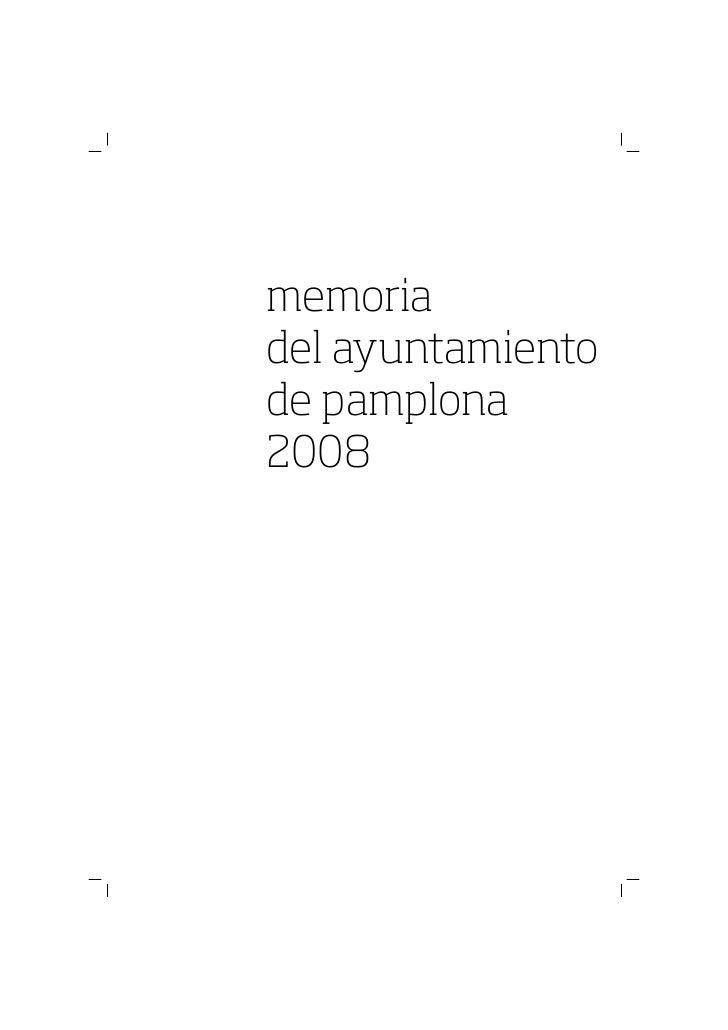 Memoria Ayto. Pamplona