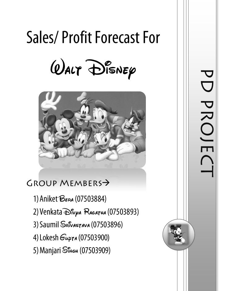 Walt Disney Annual Report Analysis