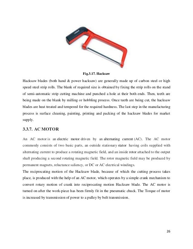 Power Hacksaw Drawings Hand Power Hacksaw Are