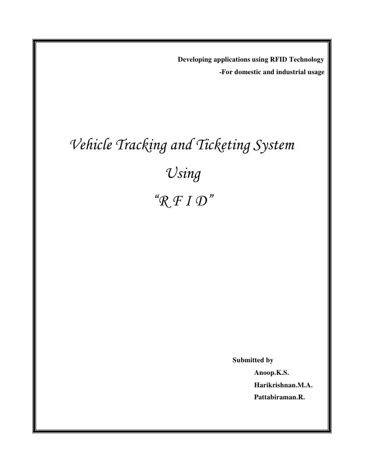 Vehicle Tracking and Ticketing System (VTTS) Using RFID Project (Stage-1)