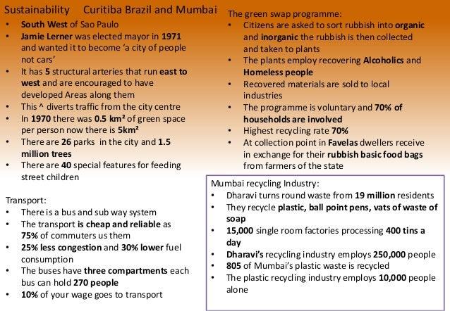 Curitiba- Geography Case Study on Sustainable Development ...