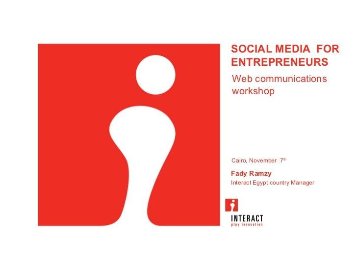Web Communications Workshop for ELCC Presentation