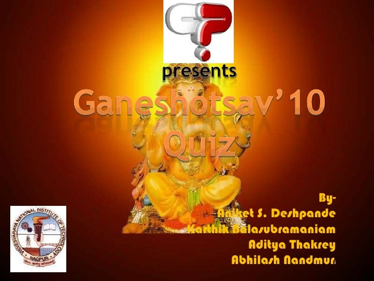 Complete General Quiz by QPC VNIT,Nagpur