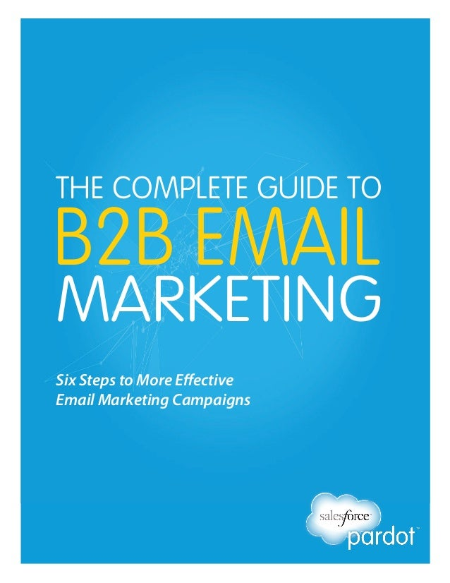 THE COMPLETE GUIDE TO  B2B EMAIL  MARKETING Six Steps to More Effective Email Marketing Campaigns