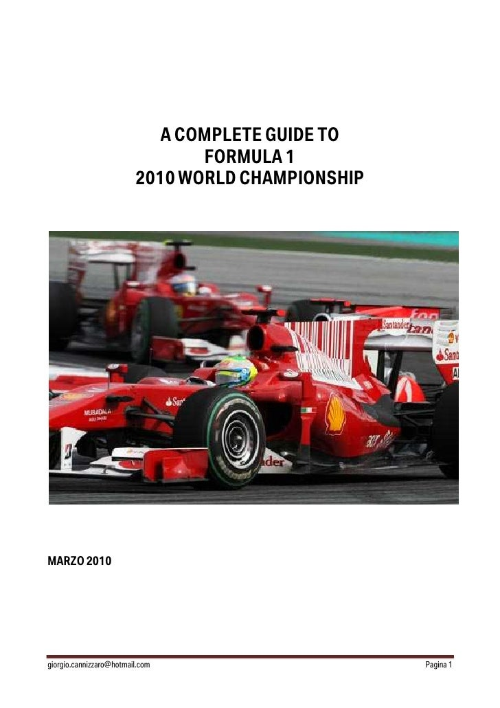 A COMPLETE GUIDE TO                                 FORMULA 1                          2010 WORLD CHAMPIONSHIP     MARZO 2...