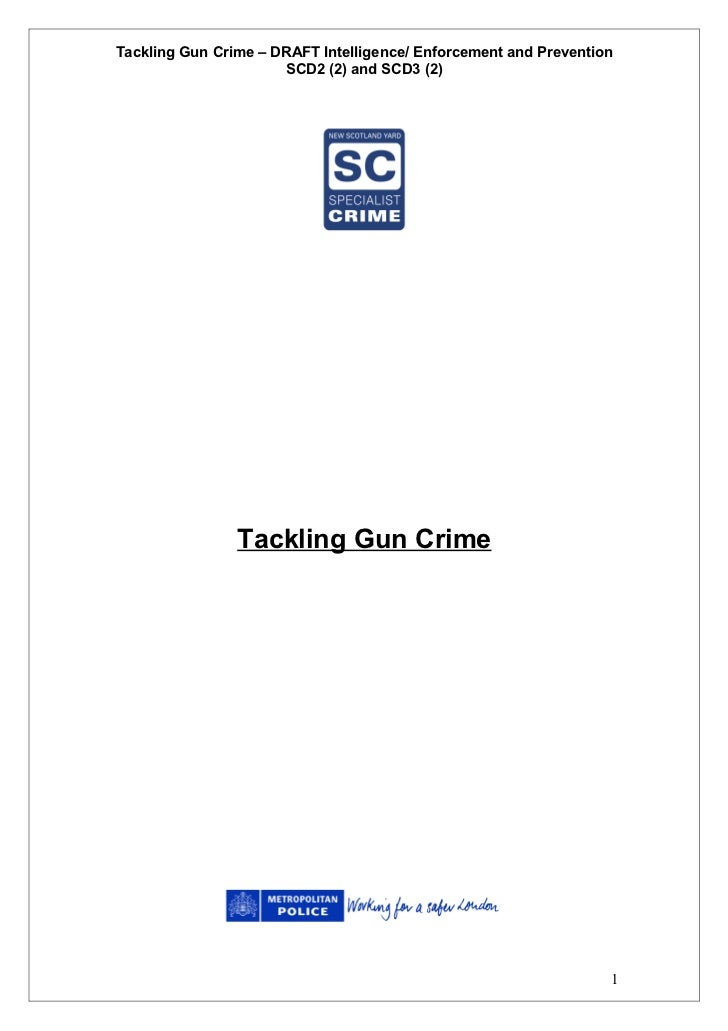 Tackling Gun Crime Manual of Guidance