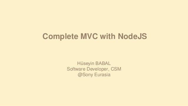 Complete MVC on NodeJS