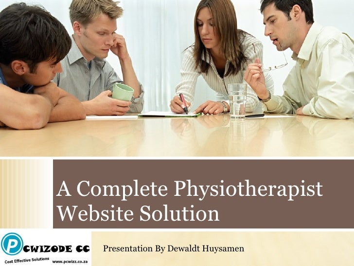 A Complete Physiotherapist Website Solution Presentation By Dewaldt Huysamen