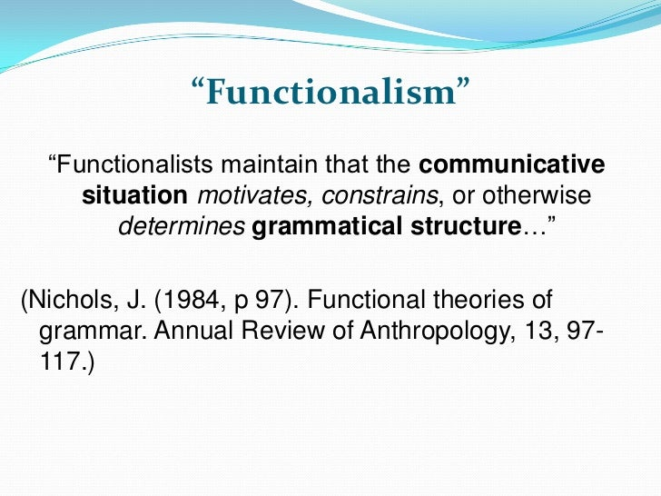 structural functionalism essays