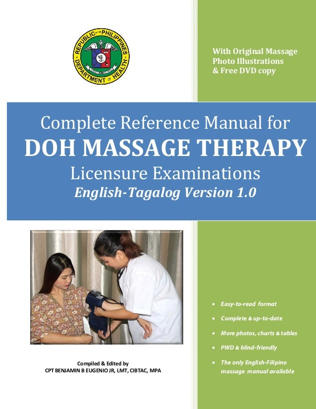 With Original Massage Photo Illustrations & Free DVD copy  Complete Reference Manual for Licensure Examinations  DOH MASSA...