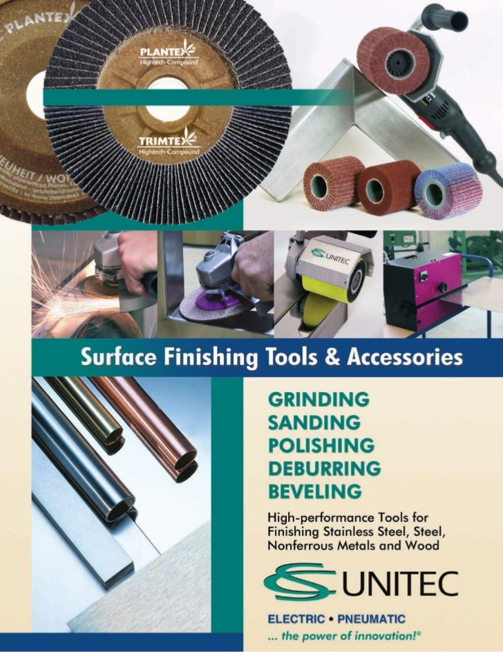 CS Unitec Complete Surface Finishing Catalog