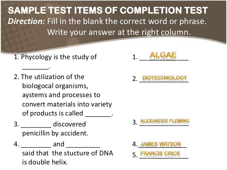 constructing essay items Items 24 - 33  are written if different item writers construct tests for different examinee pools,   brief or restricted response essay: 10 minutes for each item.