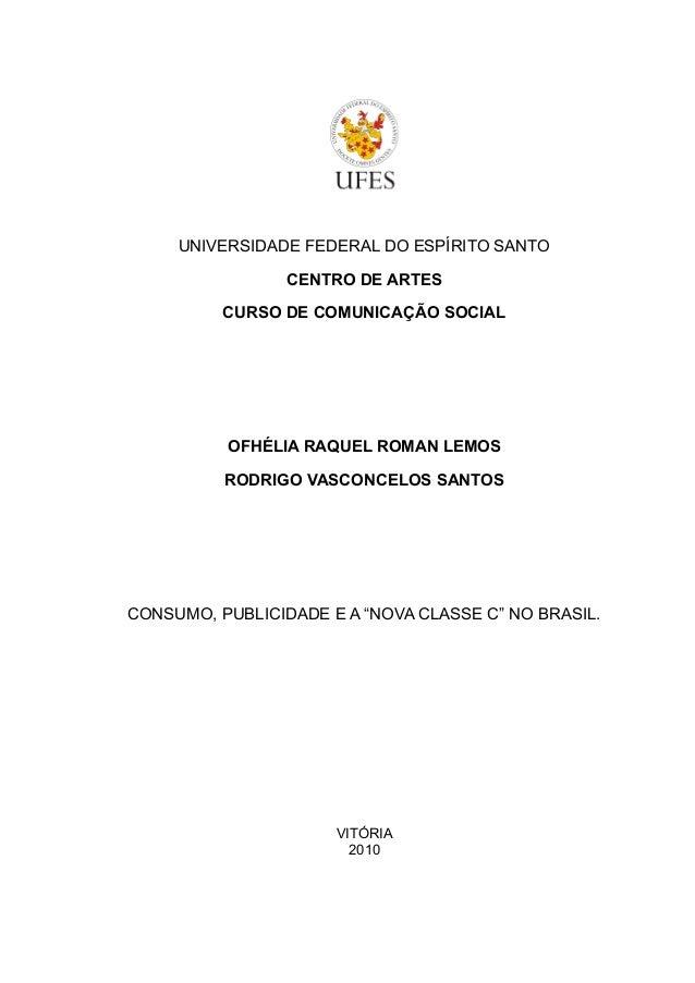 UNIVERSIDADE FEDERAL DO ESPÍRITO SANTO                 CENTRO DE ARTES          CURSO DE COMUNICAÇÃO SOCIAL          OFHÉL...