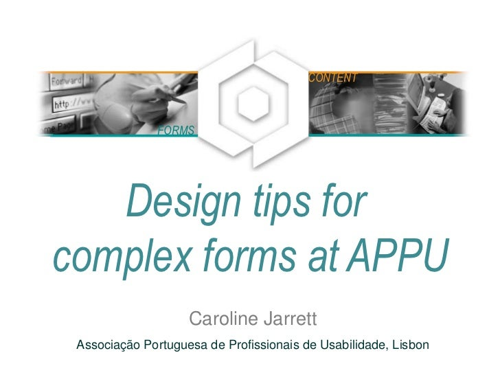 Complex forms for APPU, October 2010