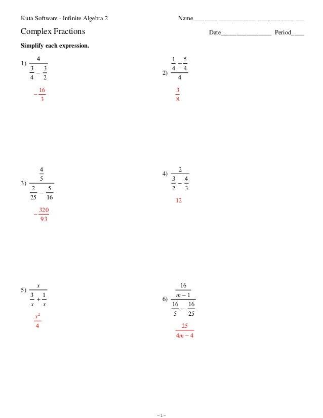 Simplifying Algebraic Fractions Worksheet Kuta Worksheet Kids – Dividing Algebraic Fractions Worksheet