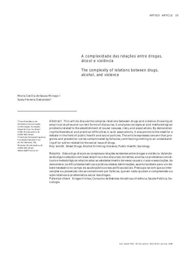 ARTIGO ARTICLE 35                                                            A complexidade das relações entre drogas,    ...