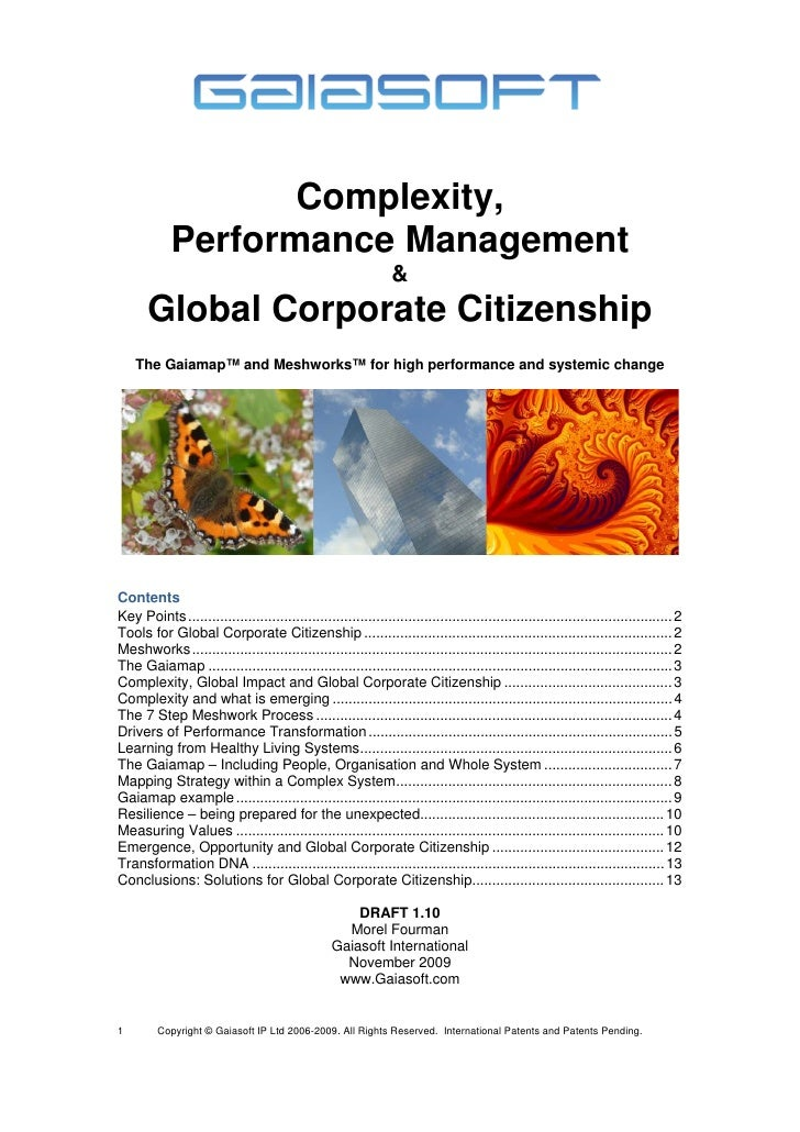 Complexity,             Performance Management                                                                  &        G...