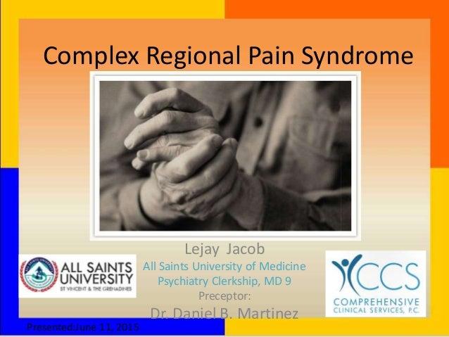 gabapentin complex regional pain syndrome