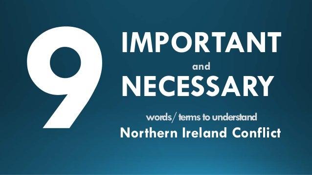 essays northern ireland conflict