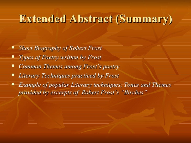 analysis of robert frost