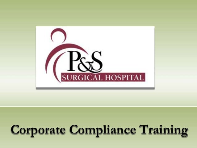 Corporate Compliance Training