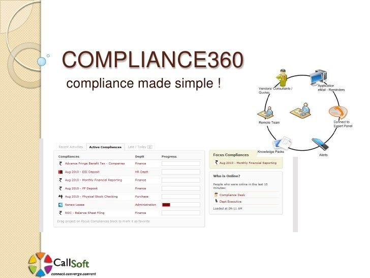 COMPLIANCE360<br />compliance made simple !<br />