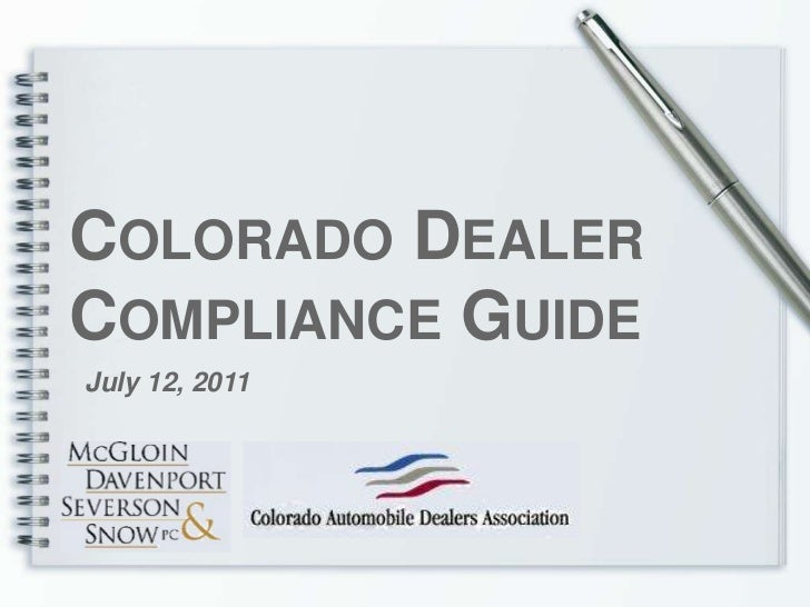 Compliance Guide Presentation Full Guide V6 7 12 2011 Session Re Sort
