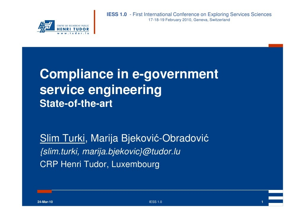 Compliance In e-government Service Engineering