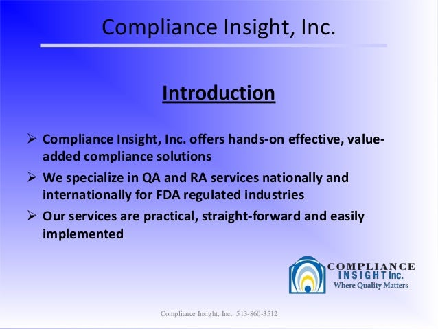 About Compliance Insight Inc.