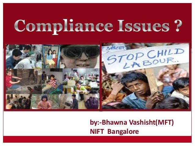 Compliance issues