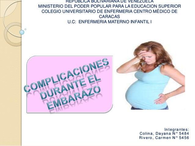 Complicaciones en el embarazo.